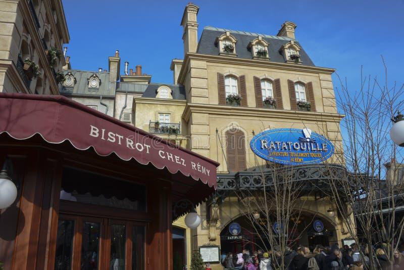 Place DE Rémy in Disney-Studio'spark, Parijs stock foto's