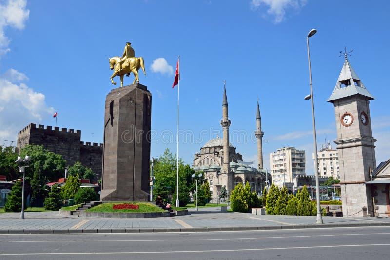 Place de République de Kayseri photographie stock libre de droits