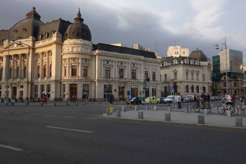 Place de révolution à Bucarest image libre de droits