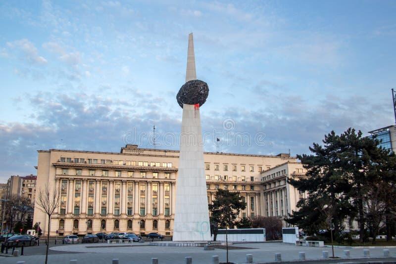 Place de révolution, Bucarest photos libres de droits