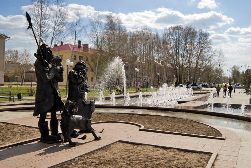 Place de Robinson Crusoe Tobolsk Russie photo stock