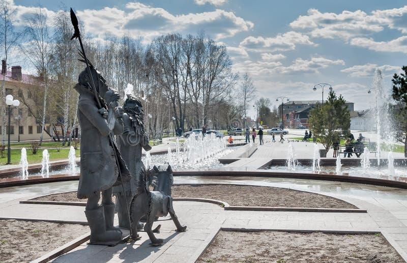 Place de Robinson Crusoe Tobolsk Russie images libres de droits