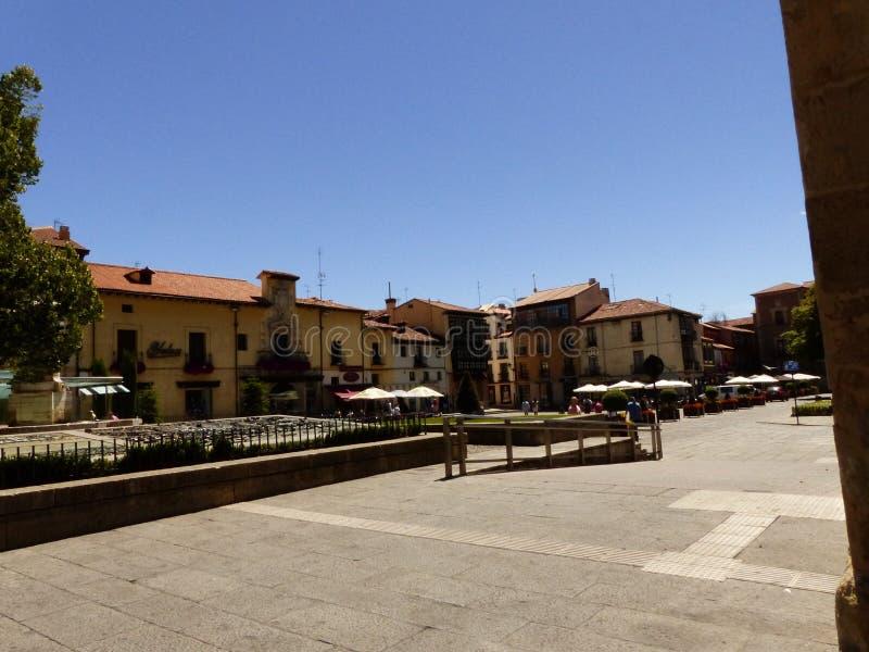 PLACE DE SAN MARCELO, LÉON, ESPAGNE, L'EUROPE photos libres de droits