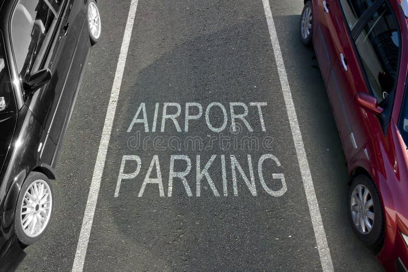 Stationnement d'aéroport photo libre de droits