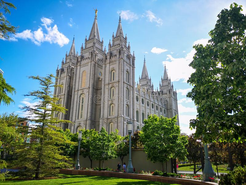 Place de temple, Salt Lake City, Utah, Etats-Unis images stock