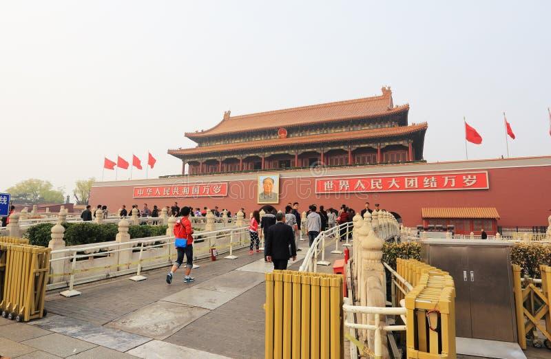 Place de Tiananmen images libres de droits
