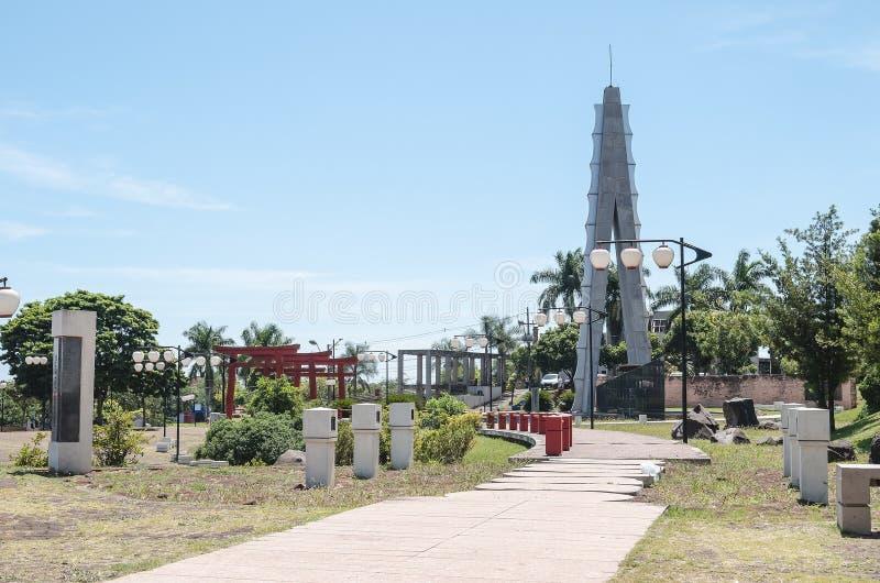 Place de Tomi Nakagawa dans le centre ville de Londrina photos stock