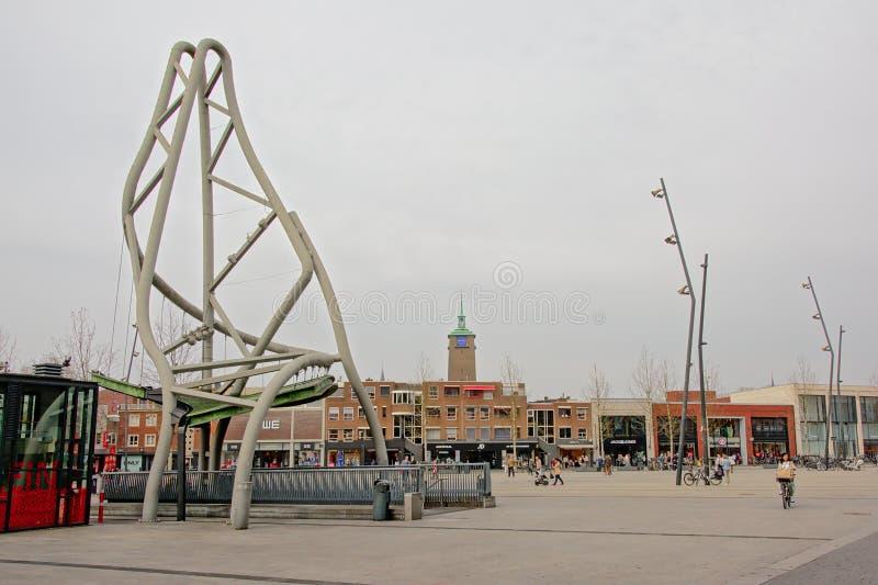Place de Van Heek, Enschede, Pays-Bas images libres de droits