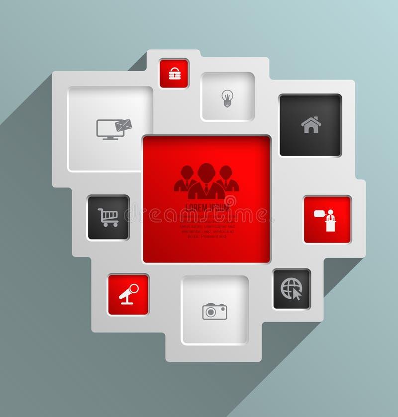 Place de vecteur pour des concepts d'affaires avec des icônes illustration libre de droits