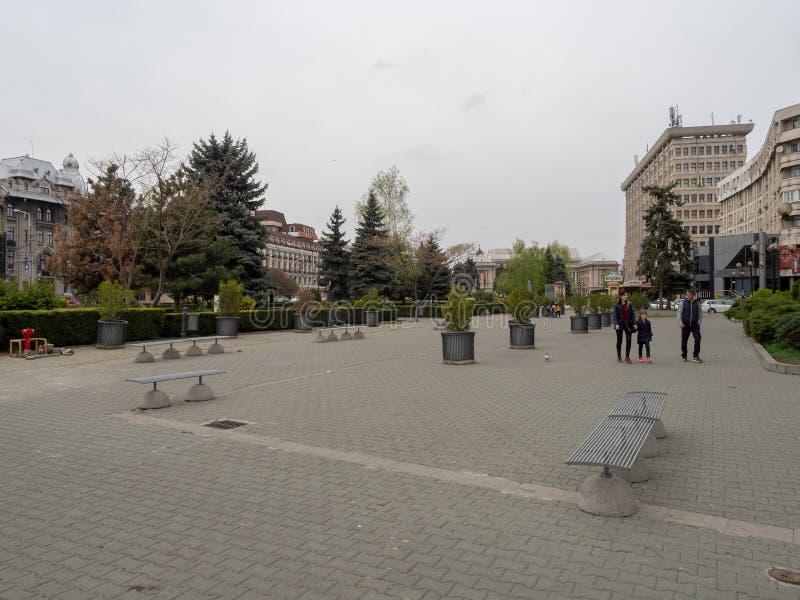 Place de Victoriei, Ploiesti, Roumanie images libres de droits