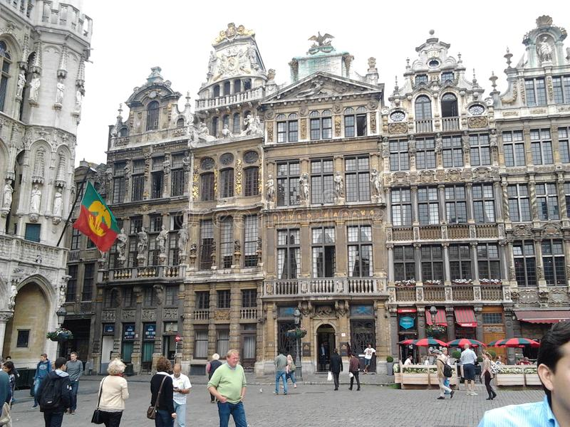 Place de Ville - Brüssel Belgien stockbilder