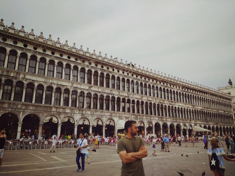 Place de ville Venise image libre de droits