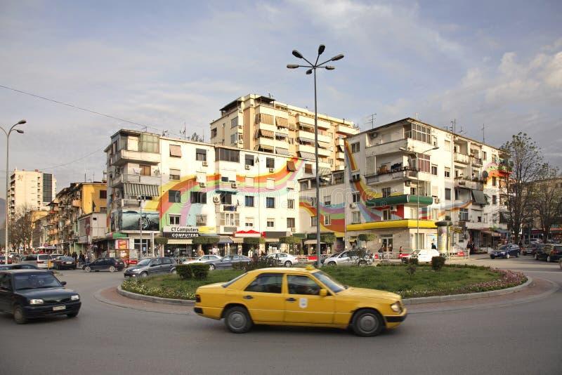 Place de Wilson à Tirana l'albanie images stock