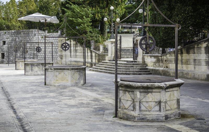 Place de Zadar des cinq puits photo libre de droits