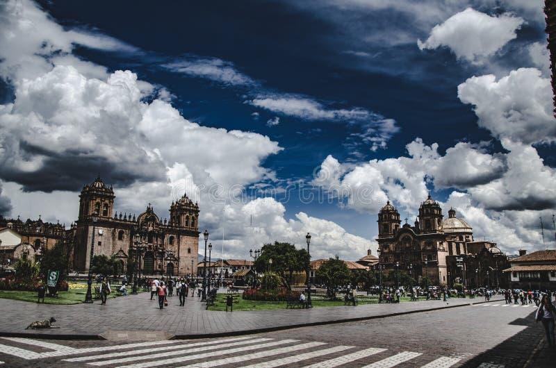 Place des bras de Cusco image libre de droits