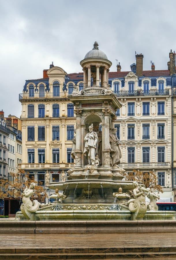 Place des Jacobins, Lyon, France. Place des Jacobins is a square located in Lyon downtown, France stock photo
