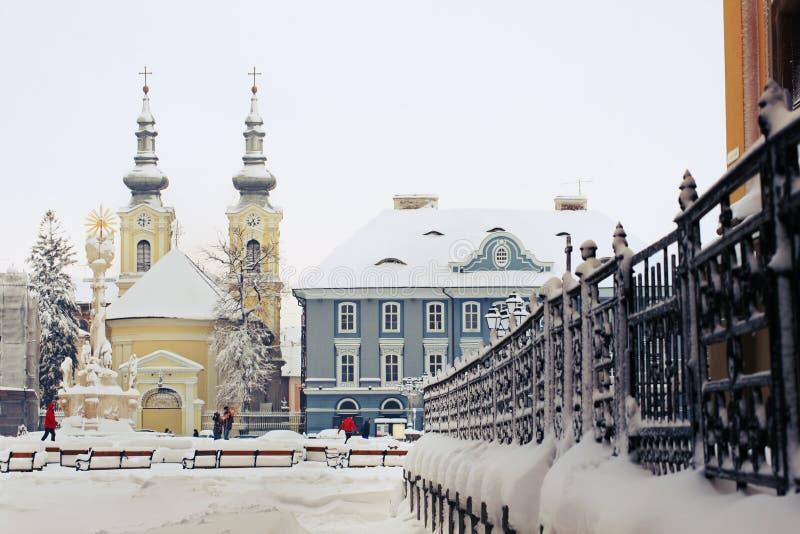 Place des syndicats dans Timisoara photographie stock
