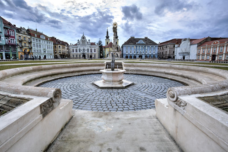 Place des syndicats du ` s de Timisoara, Roumanie photo stock