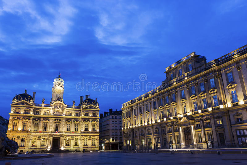 Place des Terreaux στη Λυών, Γαλλία στοκ εικόνα