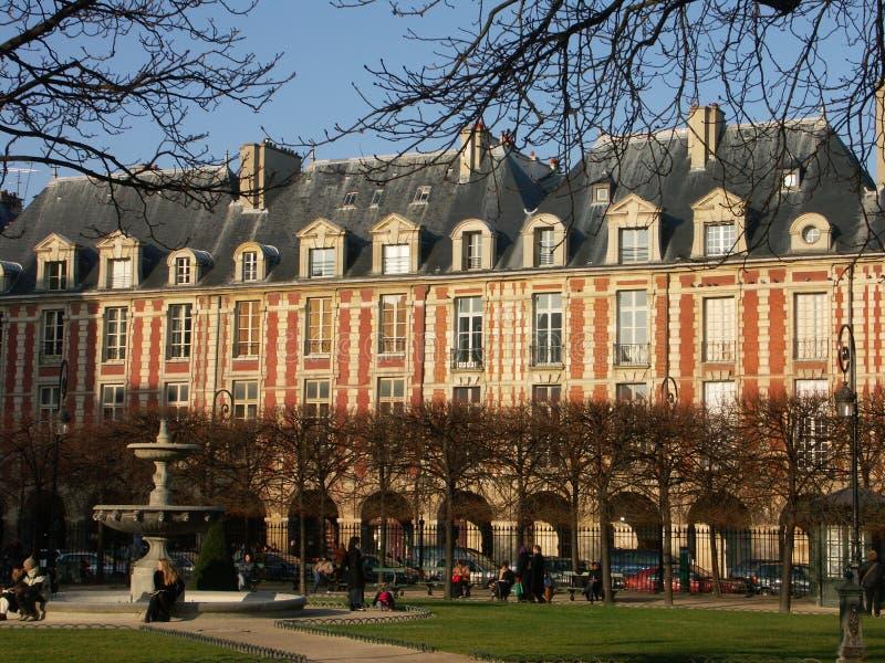 Download Place des vosges stock photo. Image of cold, park, square - 3432032