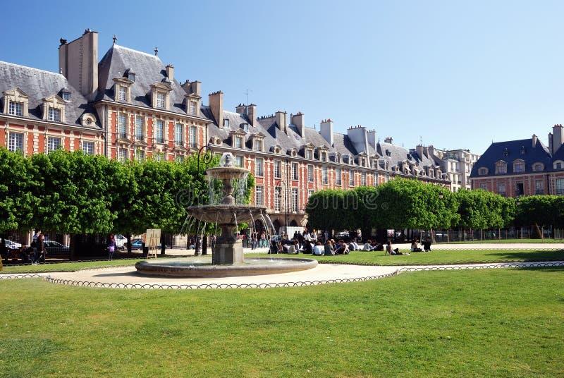 Place des Vosges, Paris stock image