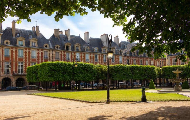 Place des Vosges Place Royale, Paris, France. Place des Vosges Place Royale, major landmark in Paris, located in Marais district royalty free stock photography