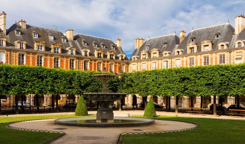 Place des Vosges Place Royale, Paris, France. Place des Vosges Place Royale, major landmark in Paris, located in Marais district royalty free stock photos