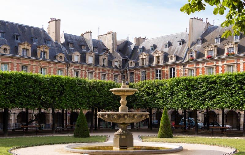 Place des Vosges Place Royale, Paris, France. Place des Vosges Place Royale, major landmark in Paris, located in Marais district royalty free stock image