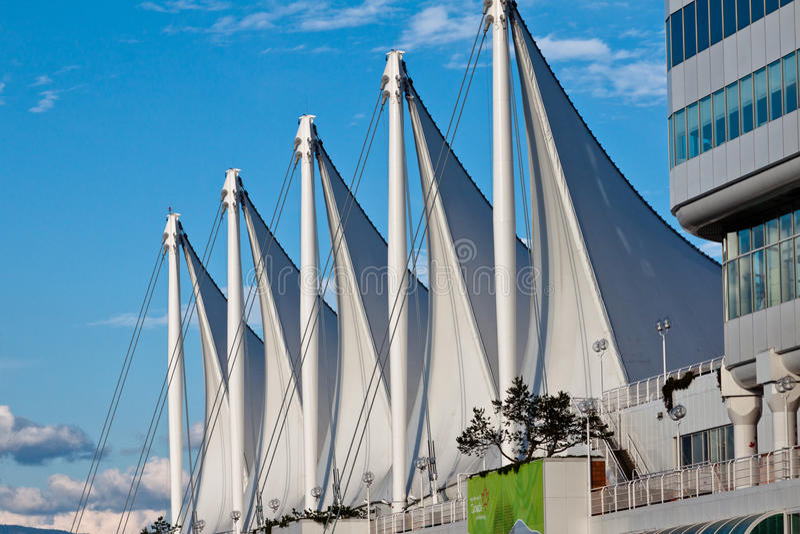 Place du Canada à Vancouver image libre de droits