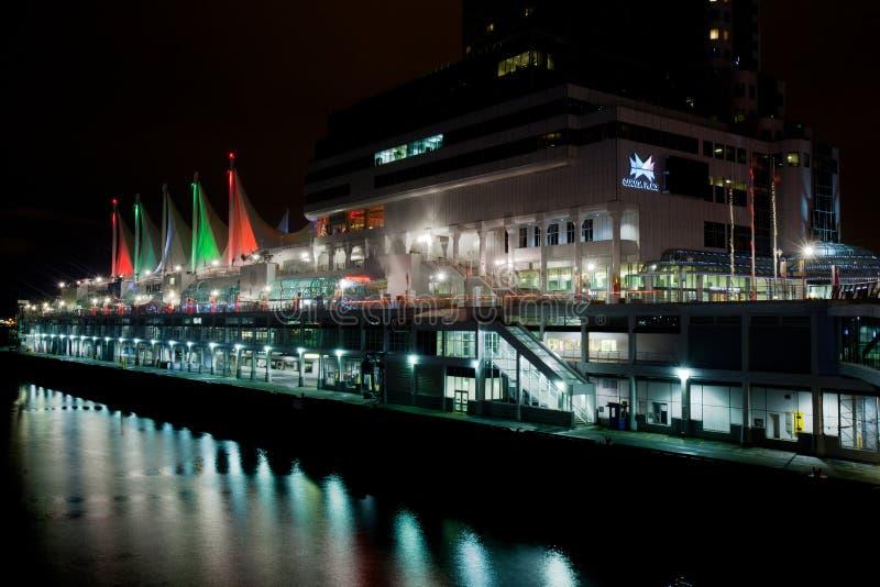 Place du Canada la nuit, Vancouver photo libre de droits