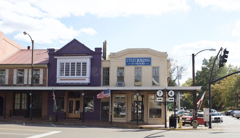 Place du centre Holly Springs, Mississippi photos stock