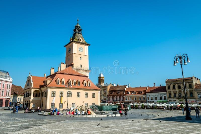 Place du Conseil de Brasov image libre de droits
