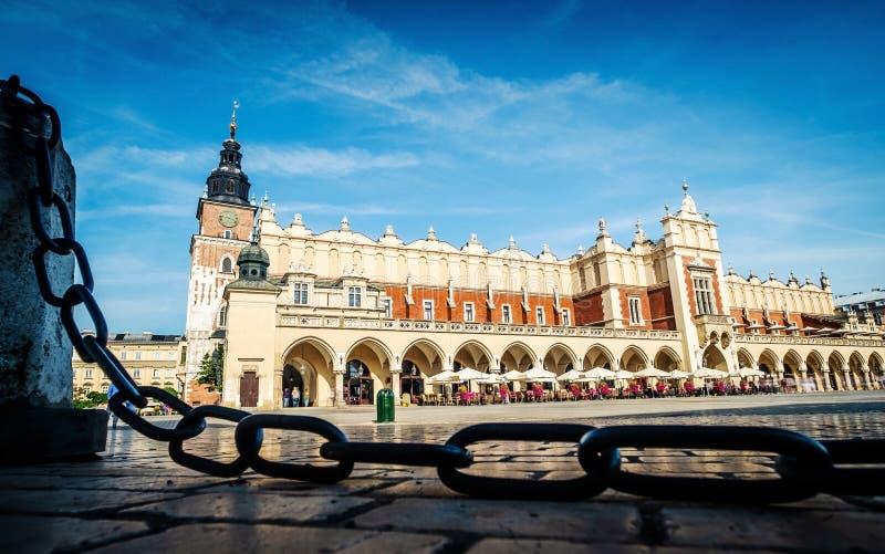 Place du marché central à Cracovie photo libre de droits
