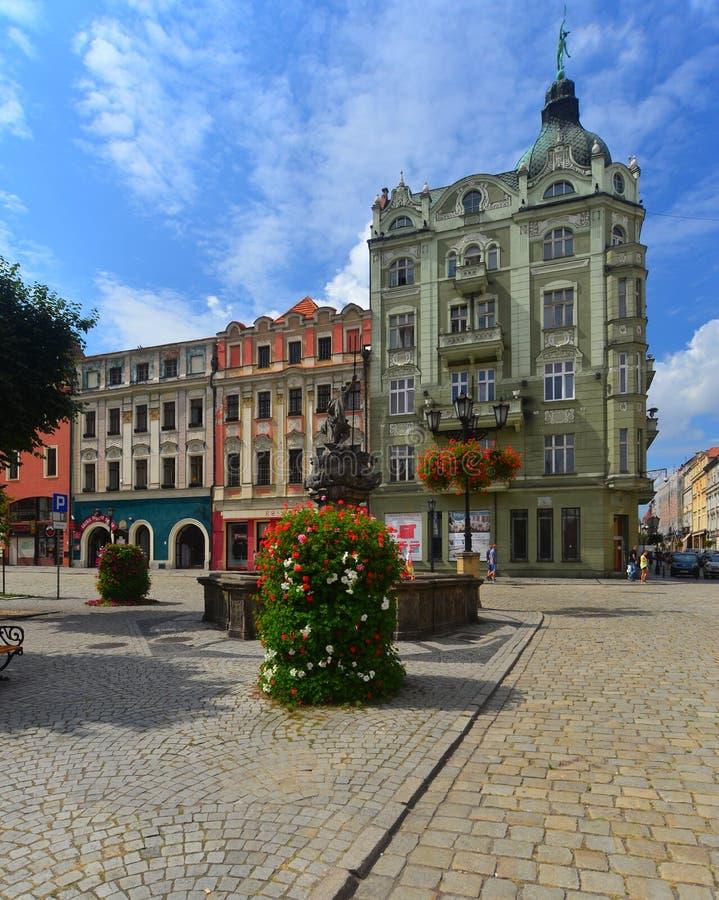 Place du marché dans Swidnica image stock