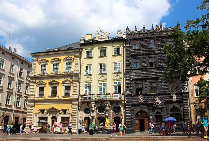 Place du marché, Lviv, Ukraine image stock