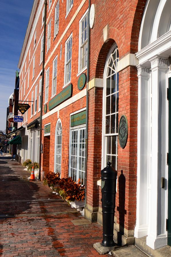 Place du marché, Portsmouth, New Hampshire image libre de droits