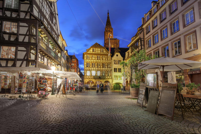 Place du Marche, Strasbourg, France stock photo