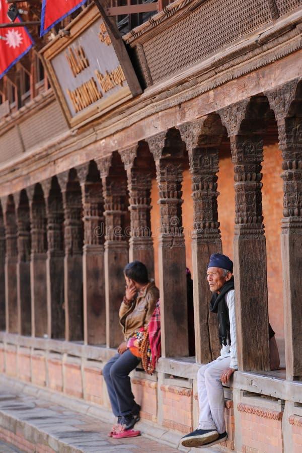 Place du Népal Katmandou Durbar de Bhaktapur photographie stock libre de droits