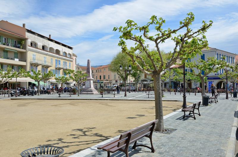 Place du saint-Florent corse de ville photos libres de droits