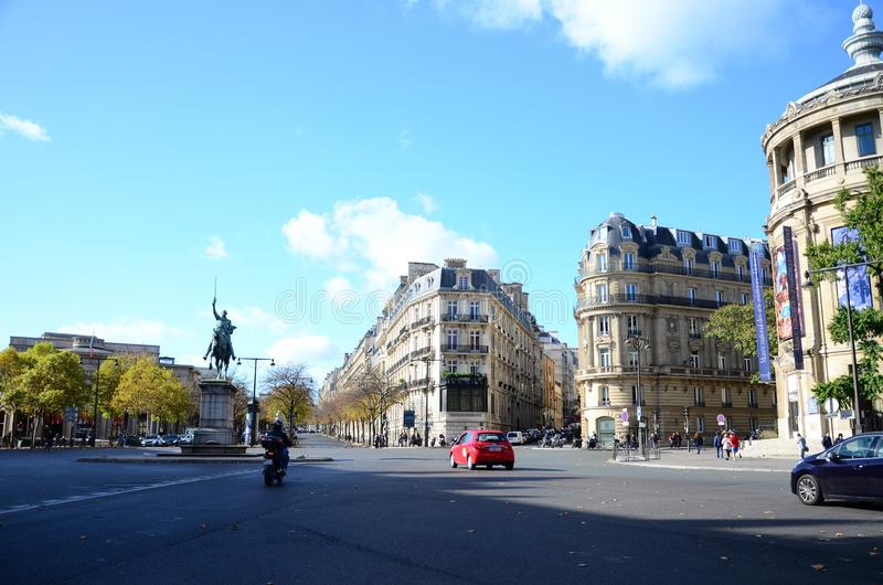 Place du Trocadéro Sunny Day lizenzfreies stockbild