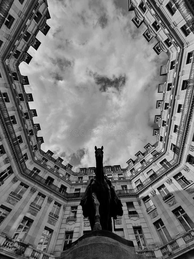 Place Edouard Vll, Paris, France stock image