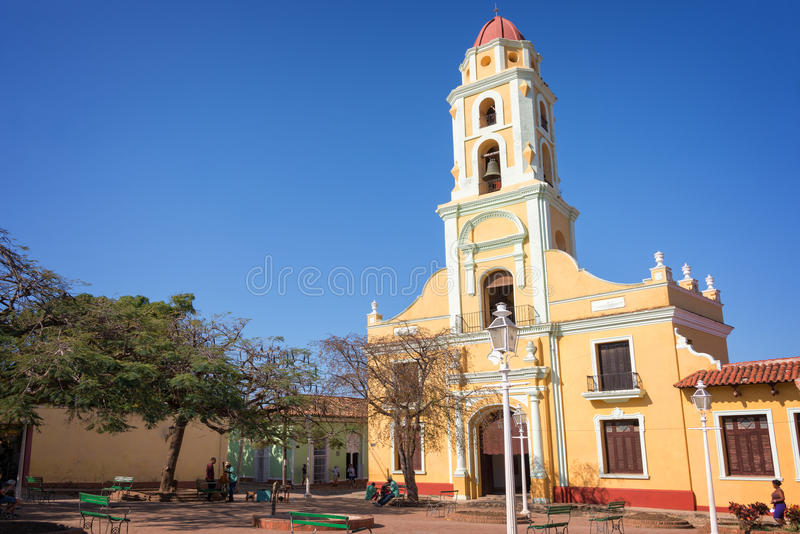 Place et église de St Francis d'Assini, Trinidad Cuba photos stock