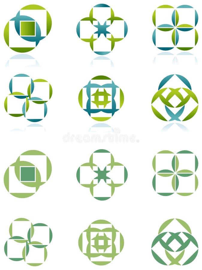 Place et cercle illustration de vecteur