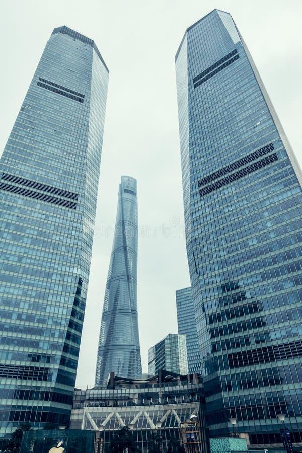 Place financière de Changhaï le fleuve Huangpu CBD image libre de droits