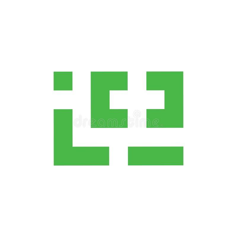 Place g?om?trique plus la ligne m?dicale vecteur de logo illustration de vecteur