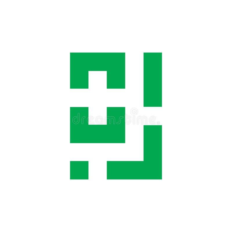 Place g?om?trique plus la ligne m?dicale vecteur de logo illustration libre de droits