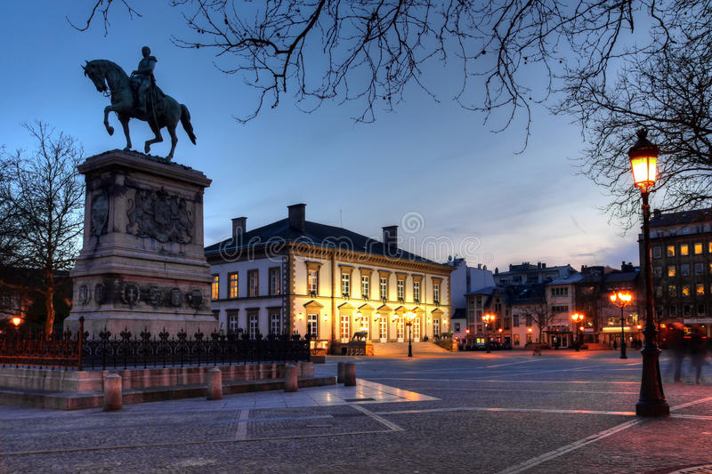 Download Place Guillaume II, Luxembourg City Stock Image - Image: 13574771