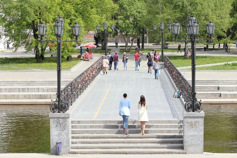 Place historique, Ekaterinburg, Russie photos libres de droits