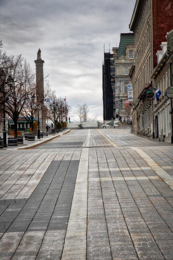 Place Jacques-Cartier English: Jacques Cartier square is a square located in Old Montreal, Quebec, Canada. stock photo