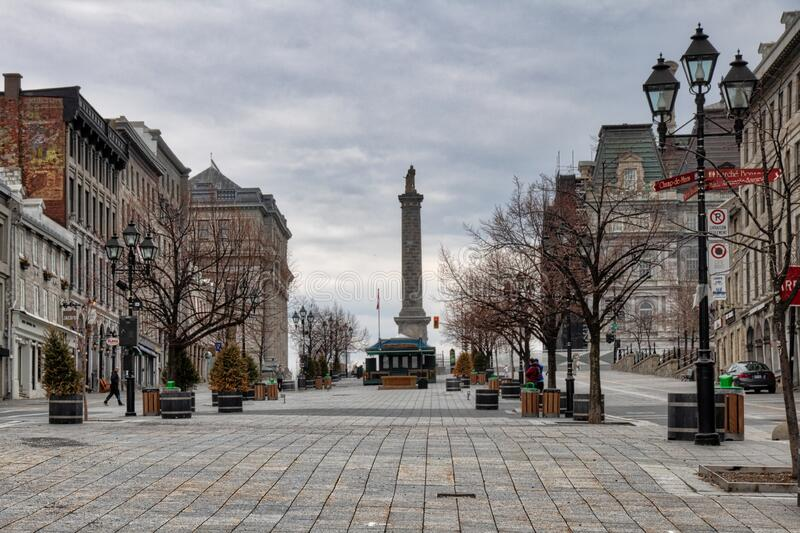 Place Jacques-Cartier English: Jacques Cartier square is a square located in Old Montreal, Quebec, Canada. royalty free stock image